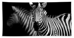 Hand Towel featuring the photograph Zebra by Charuhas Images
