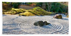 Zen Garden At A Sunny Morning Hand Towel by Ulrich Schade