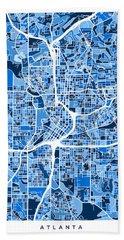 Atlanta Georgia City Map Bath Towel