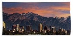 Salt Lake City Skyline Hand Towel