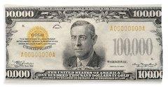 $100,000 Bill Circa 1934 Bath Towel