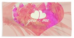 10183 You And Me Bath Towel