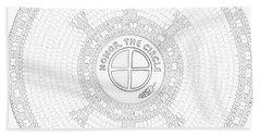 102007- Honor_the_circle Bath Towel