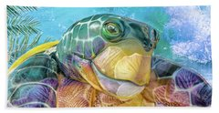 10730 Mr Tortoise Bath Towel by Pamela Williams