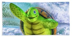 10731 Myrtle The Turtle Bath Towel by Pamela Williams