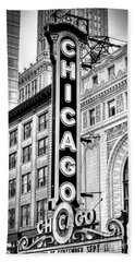 1077 Chicago Theater Black And White Bath Towel