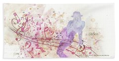 10849 All That Jazz Hand Towel by Pamela Williams