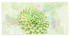10891 Green Chrysanthemum Bath Towel