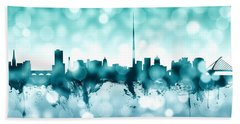 Dublin Ireland Skyline Bath Towel