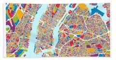 New York City Street Map Hand Towel