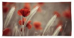 Poppies Bath Towels