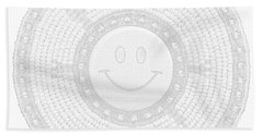 110-happy Face 0115 Wampum White Hand Towel