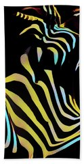 1149s-ak Dramatic Zebra Striped Woman Rendered In Composition Style Hand Towel by Chris Maher