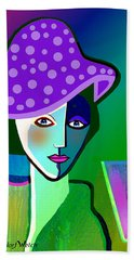 2518 - Her Purple Pocodot Hat 2017 Bath Towel