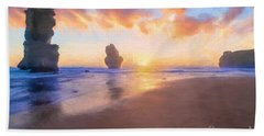 12 Apostles With Marshmallow Skies    Og Hand Towel