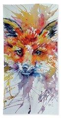 Red Fox Hand Towel