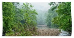 Hand Towel featuring the photograph Williams River Summer Mist by Thomas R Fletcher
