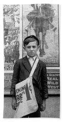 12 Year Old Newsie - Wilmington - 1910 Hand Towel
