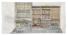 120 To 126 East 126th Street In East Harlem Hand Towel by Afinelyne
