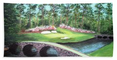 12th Hole At Augusta National Hand Towel
