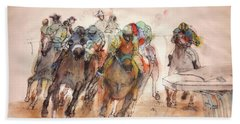 Hand Towel featuring the painting American  Pharaoh  Album  by Debbi Saccomanno Chan