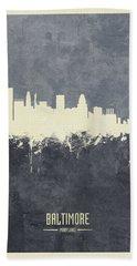 Baltimore Maryland Skyline Bath Towel