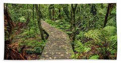 Hand Towel featuring the photograph Forest Boardwalk by Les Cunliffe