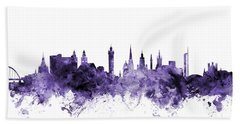 Glasgow Scotland Skyline Hand Towel