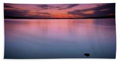 Lake Sunset Bath Towel