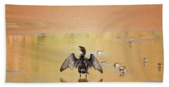 Hand Towel featuring the photograph Neotropic Cormorant by Tam Ryan