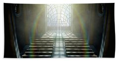 Stained Glass Window Church Hand Towel