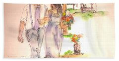 The Wedding Album  Hand Towel by Debbi Saccomanno Chan