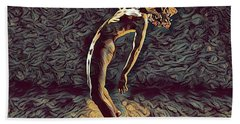 Hand Towel featuring the digital art 1322s-zac Dancing Naked In The Light  by Chris Maher