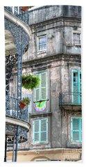 1358 French Quarter Balconies Hand Towel
