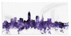 Cleveland Ohio Skyline Hand Towel