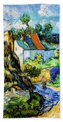 Houses At Auvers Bath Towel
