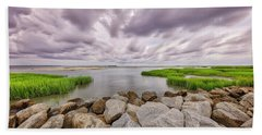 Seascape Of Hilton Head Island Bath Towel