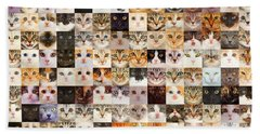 140 Random Cats Bath Towel