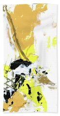 Bath Towel featuring the painting Three Color Palette by Michal Mitak Mahgerefteh