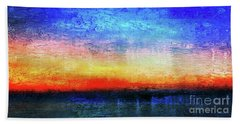 15a Abstract Seascape Sunrise Painting Digital Bath Towel
