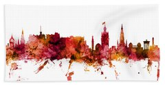 Edinburgh Scotland Skyline Bath Towel
