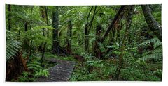 Bath Towel featuring the photograph Forest Boardwalk by Les Cunliffe