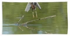 Hand Towel featuring the photograph Green Heron by Tam Ryan