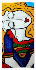 Shy Girl Picasso By Nora Bath Towel by Nora Shepley