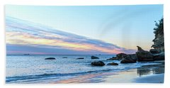 Rocky Daybreak Seascape Hand Towel