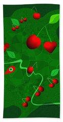 163  Cherry   Eater  V Hand Towel