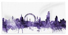 London England Skyline Hand Towel