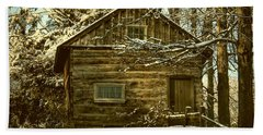 1700's Log School House In West Chester, Pennsylvania Hand Towel