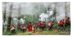 1763 Bushy Run British Counterattack Bath Towel by Randy Steele