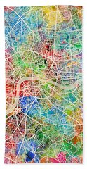 London England Street Map Hand Towel